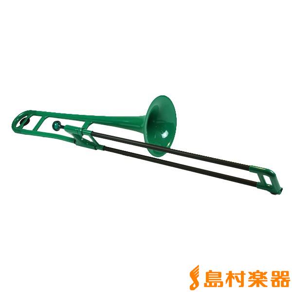 pInstruments pBone グリーン プラスチック トロンボーン 【Pインストゥルメンツ】