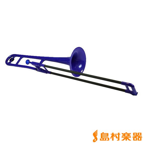 pTrumpet pBone ブルー プラスチック トロンボーン 【ピートランペット】