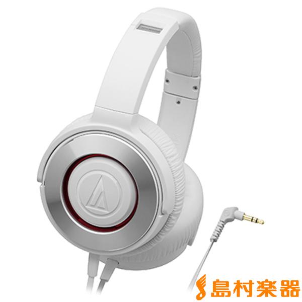 audio-technica ATH-WS550 ヘッドホン SOLID BASS 【ホワイト】 【オーディオテクニカ】