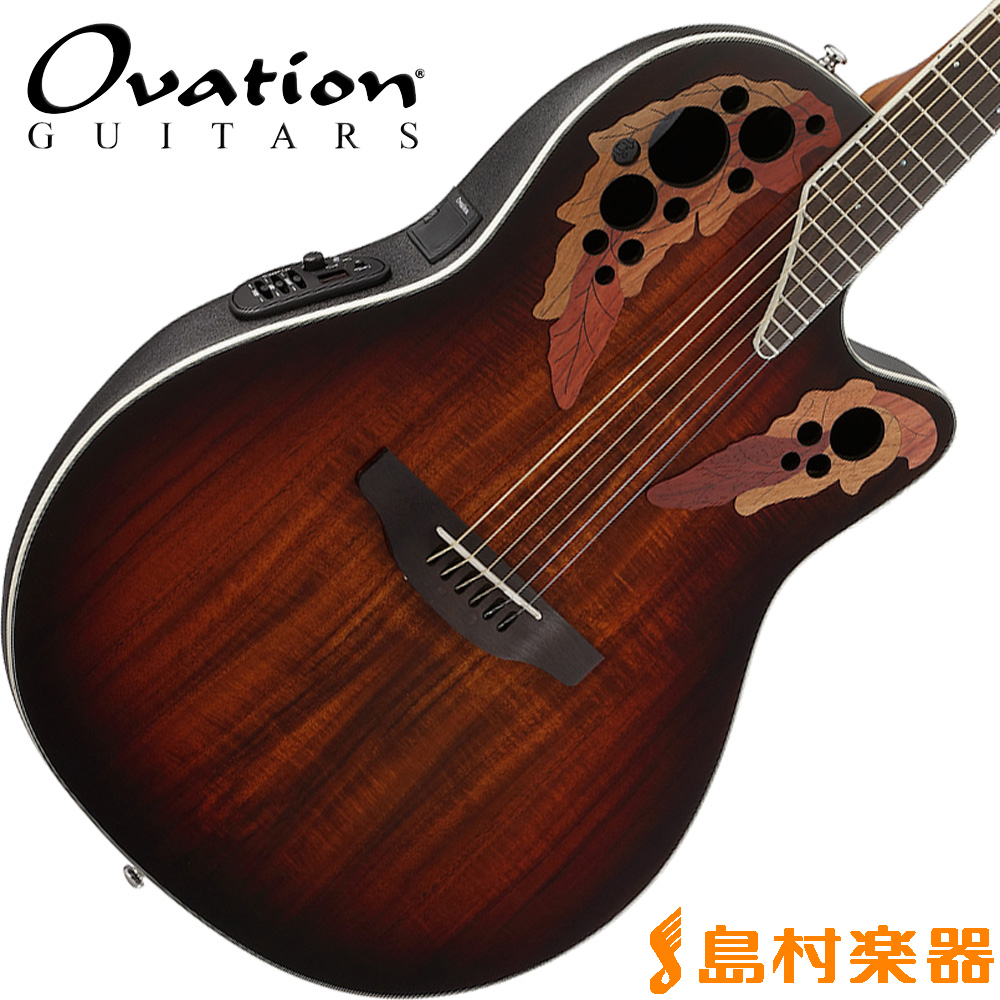 Ovation Celebrity Elite Plus Super Shallow Body CE48P KOAB(コアバースト) アコースティックギター エレアコ 【オベーション セレブリティ】