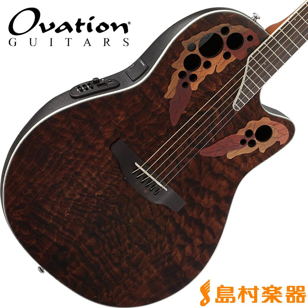 Ovation Celebrity Elite Plus Super Shallow Body CE48P TGE(タイガーアイ) アコースティックギター エレアコ 【オベーション セレブリティ】