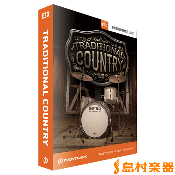 TOONTRACK EZX TRADITIONAL COUNTRY / BOX プラグインソフトウェア ドラム拡張音源 【トゥーントラック】【国内正規品】