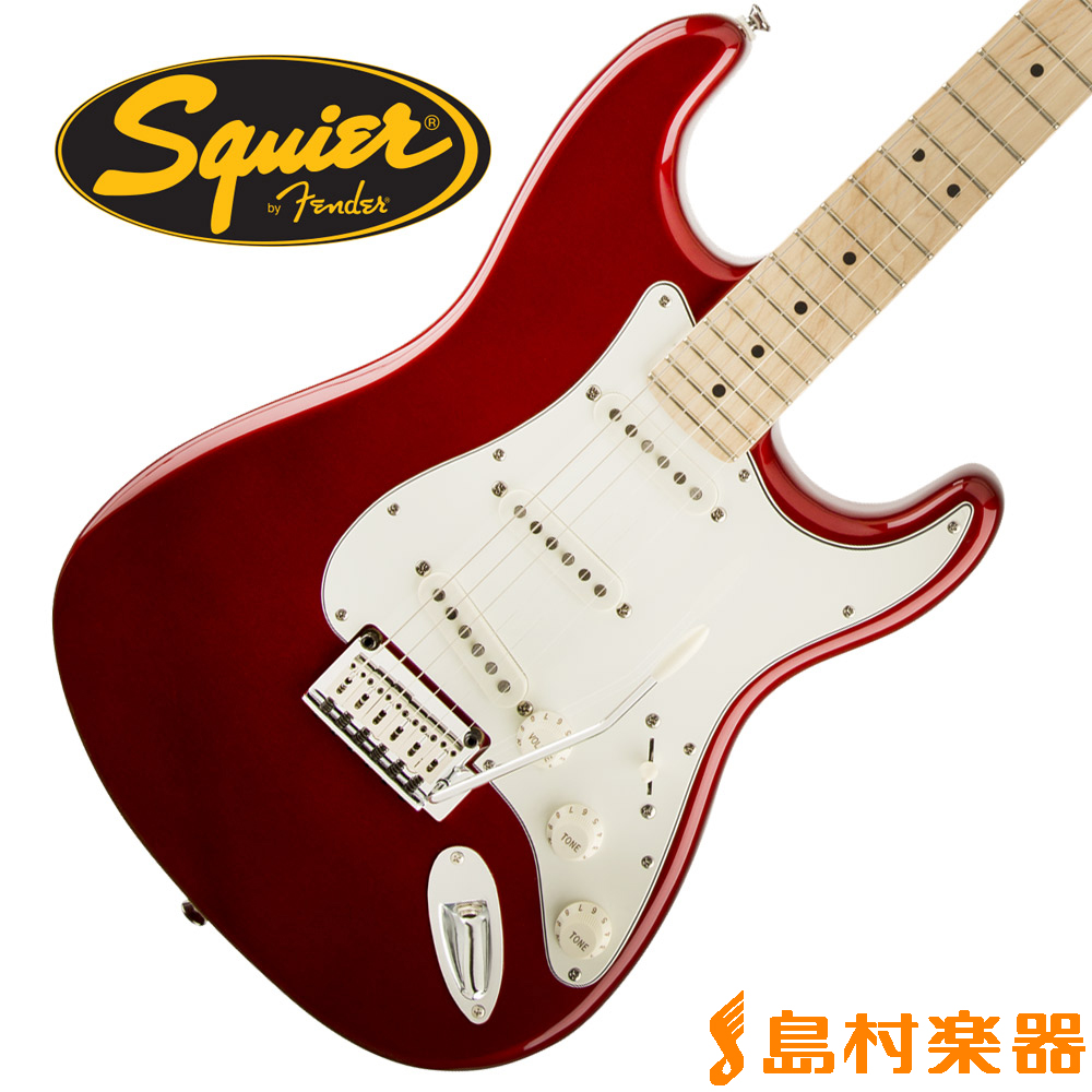 Squier by Fender Standard Stratocaster Maple Fingerboard CAR(キャンディアップルレッド) ストラトキャスター 【スクワイヤー / スクワイア】