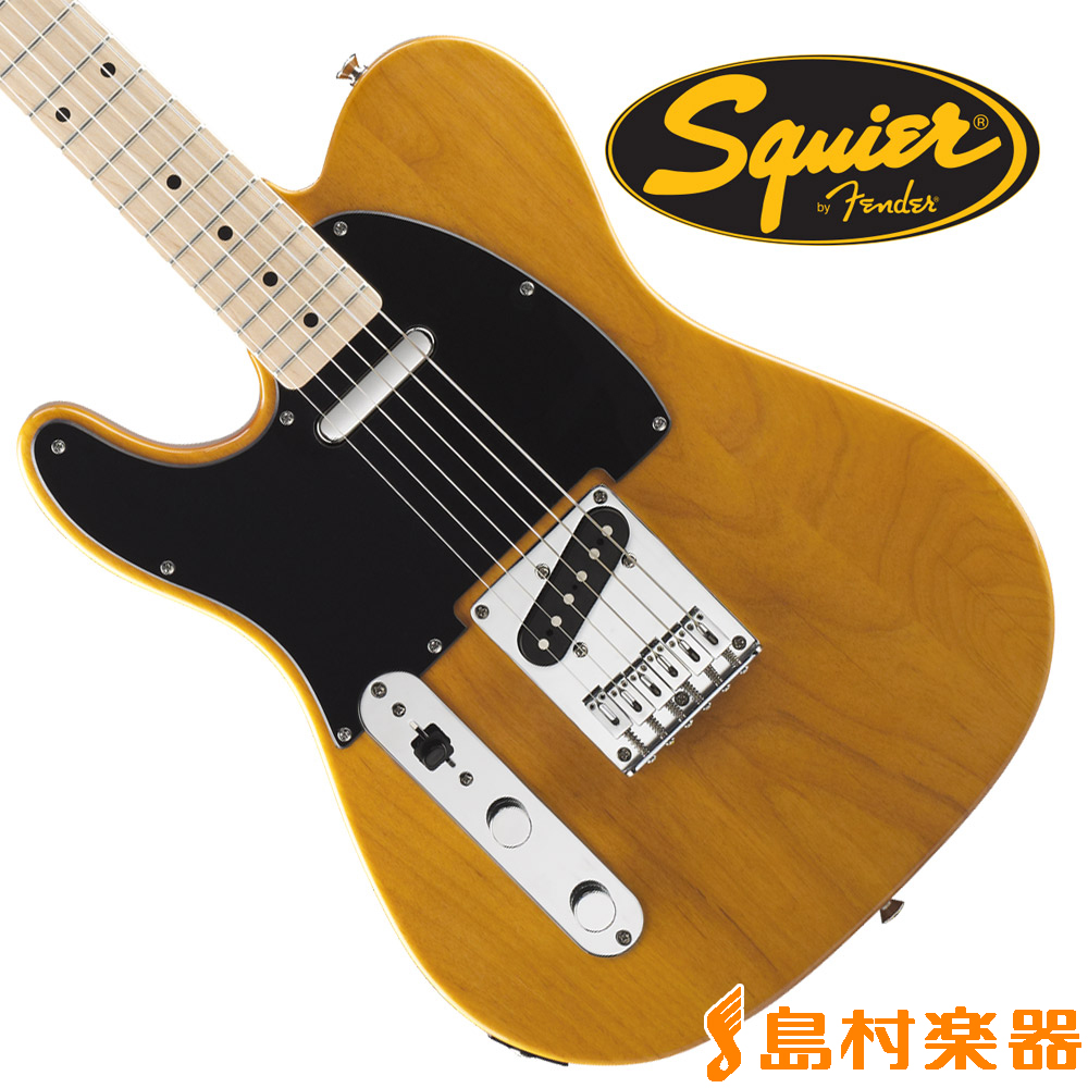 Squier by Fender Affinity Series Telecaster Left-Handed Maple Fingerboard(バタースコッチブロンド) テレキャスター 【左利き/レフトハンド】 【スクワイヤー / スクワイア】
