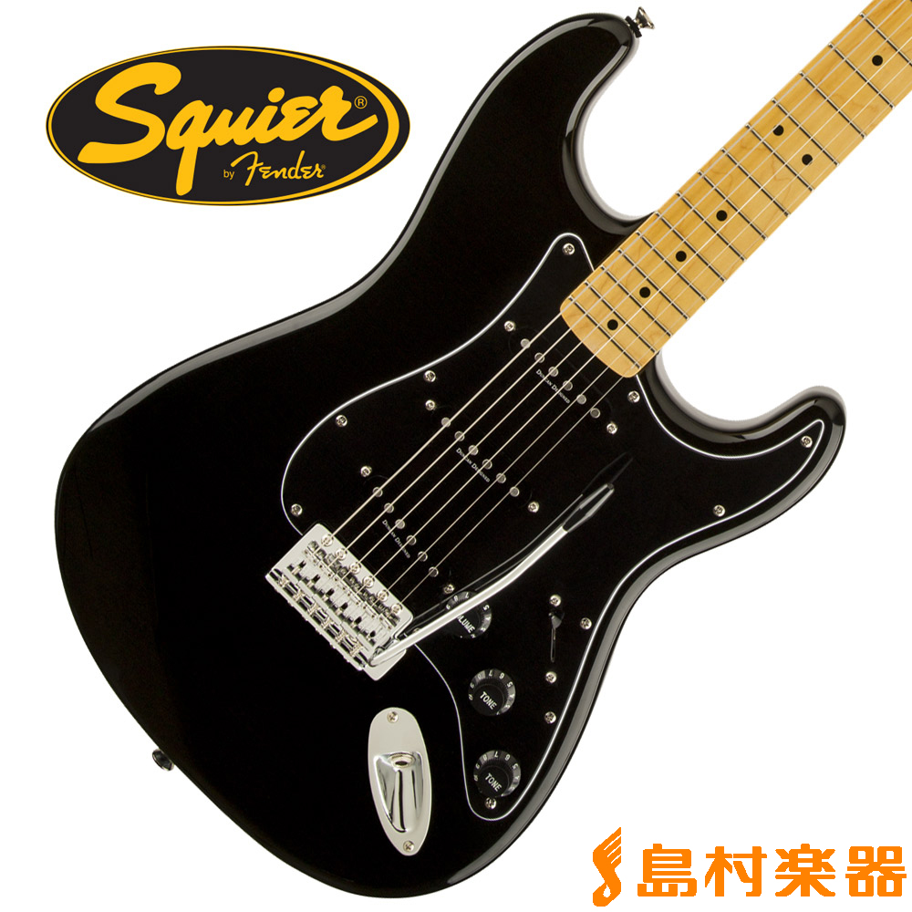 Squier by Fender Vintage Modified 70s Stratocaster Maple Fingerboard BLK(ブラック) ストラトキャスター 【スクワイヤー / スクワイア】