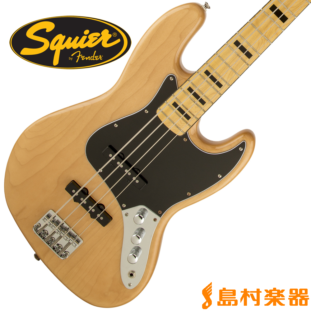 Squier by Fender Vintage Modified Jazz Bass 70s Maple Fingerboard NAT(ナチュラル) ジャズベース 【スクワイヤー / スクワイア】