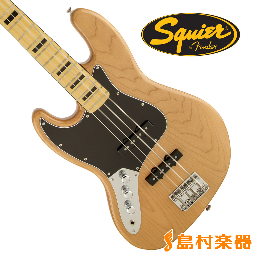 Squier by Fender Vintage Modified Jazz Bass 70s Left-Handed Maple Fingerboard NAT(ナチュラル) ジャズベース 【左利き/レフトハンド】 【スクワイヤー / スクワイア】