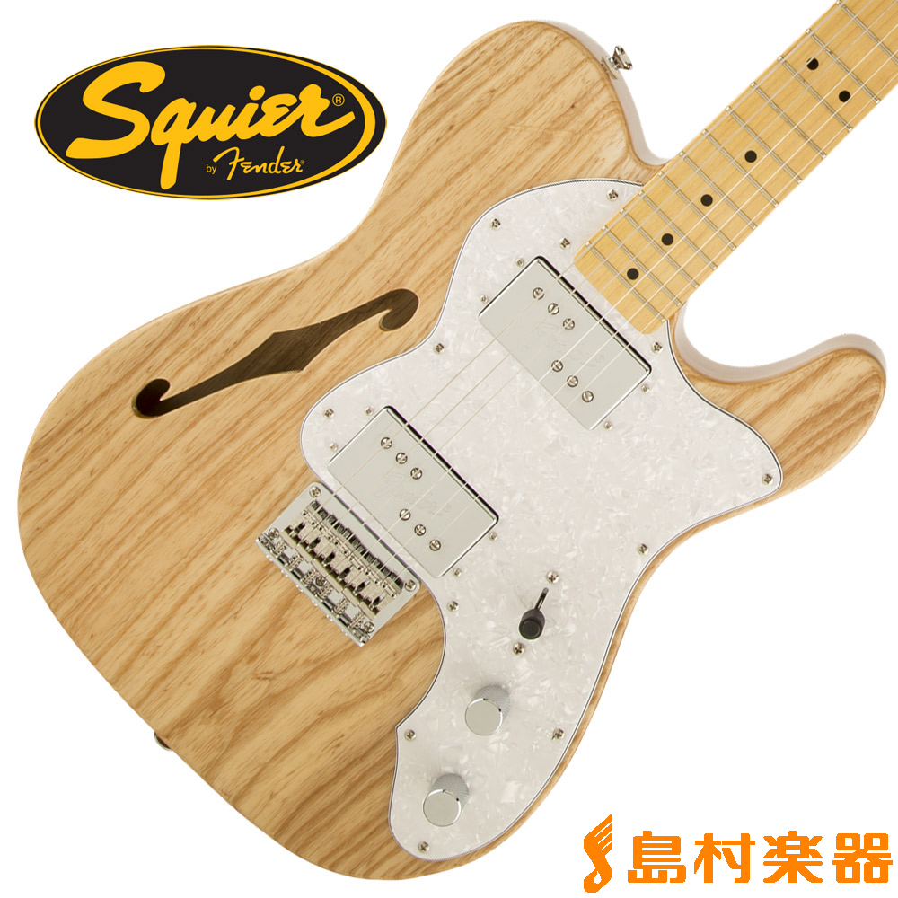 Maple Thinline テレキャスター Squier スクワイア】 Modified Vintage NAT(ナチュラル) Fender / by 72 Fingerboard Telecaster 【スクワイヤー