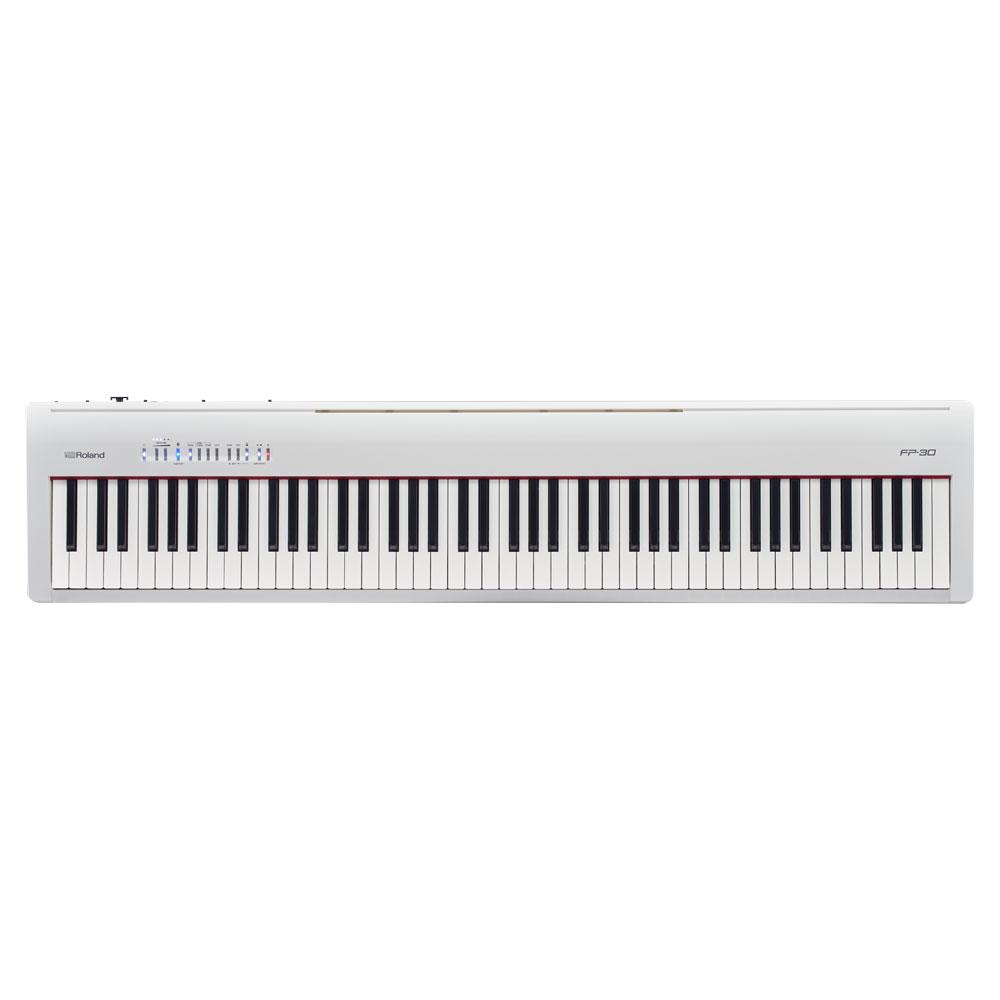 Roland FP-30 ホワイト 電子ピアノ 88鍵盤 【ローランド FP30】【別売り延長保証対応プラン:E】
