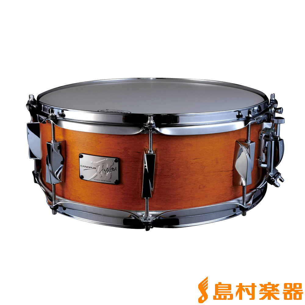 CANOPUS JSM-1455 【カノウプス】 刃メイプル スネアドラム LQ Mat Amber Antique