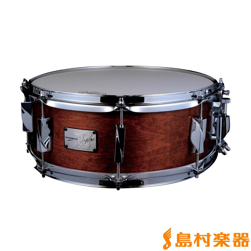 CANOPUS JSM-1465 Antique Brown Mat LQ 刃メイプル スネアドラム 【カノウプス】