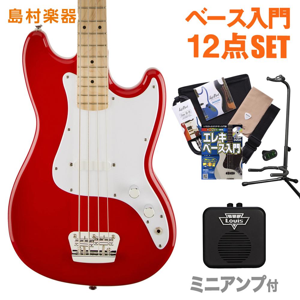 Squier by Fender Bronco Bass Maple Fingerboard TRD(トリノレッド) ミニアンプセット ベース 初心者 セット ベース 【スクワイヤー / スクワイア】【オンラインストア限定】