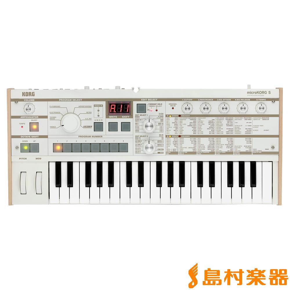 KORG MICROKORG S MK-1S シンセサイザー 37鍵盤 【コルグ MK-1S】