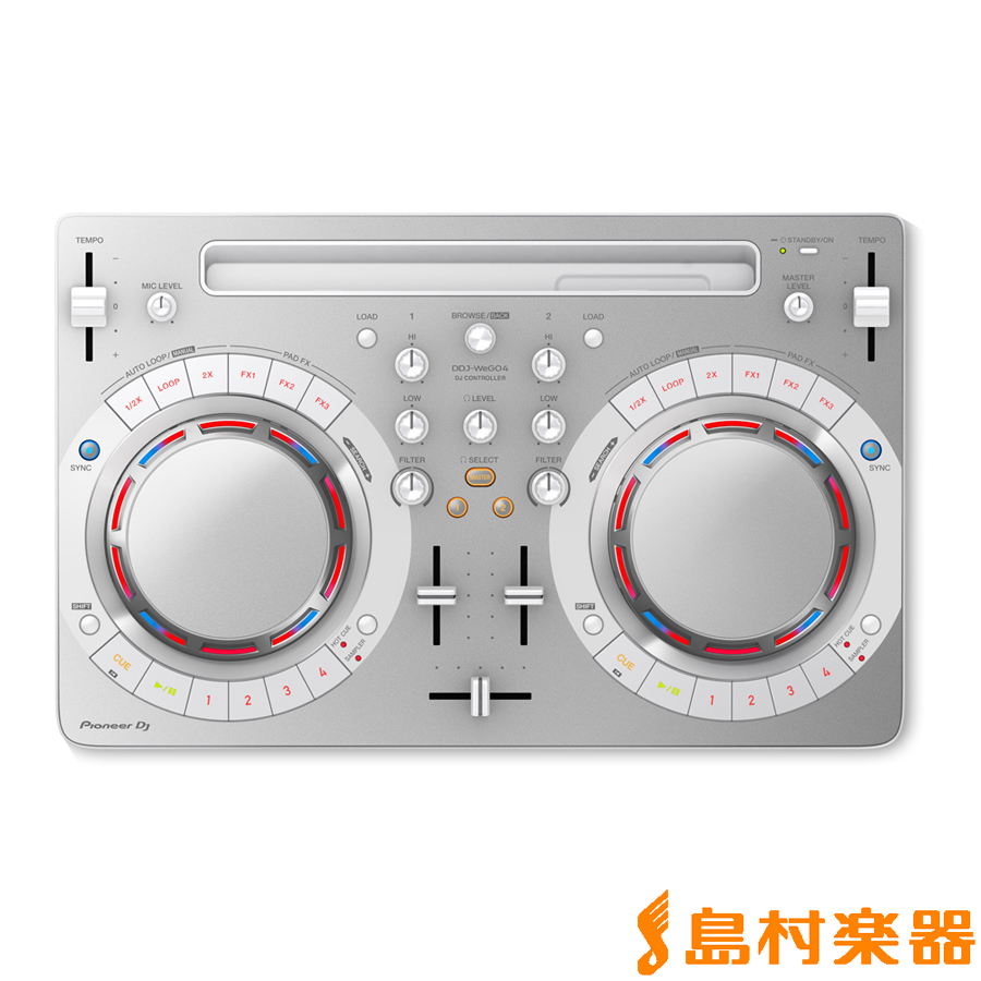 Pioneer DJ DDJ-WeGO4-W (ホワイト) DJコントローラー 【パイオニア DDJWeGO4K】
