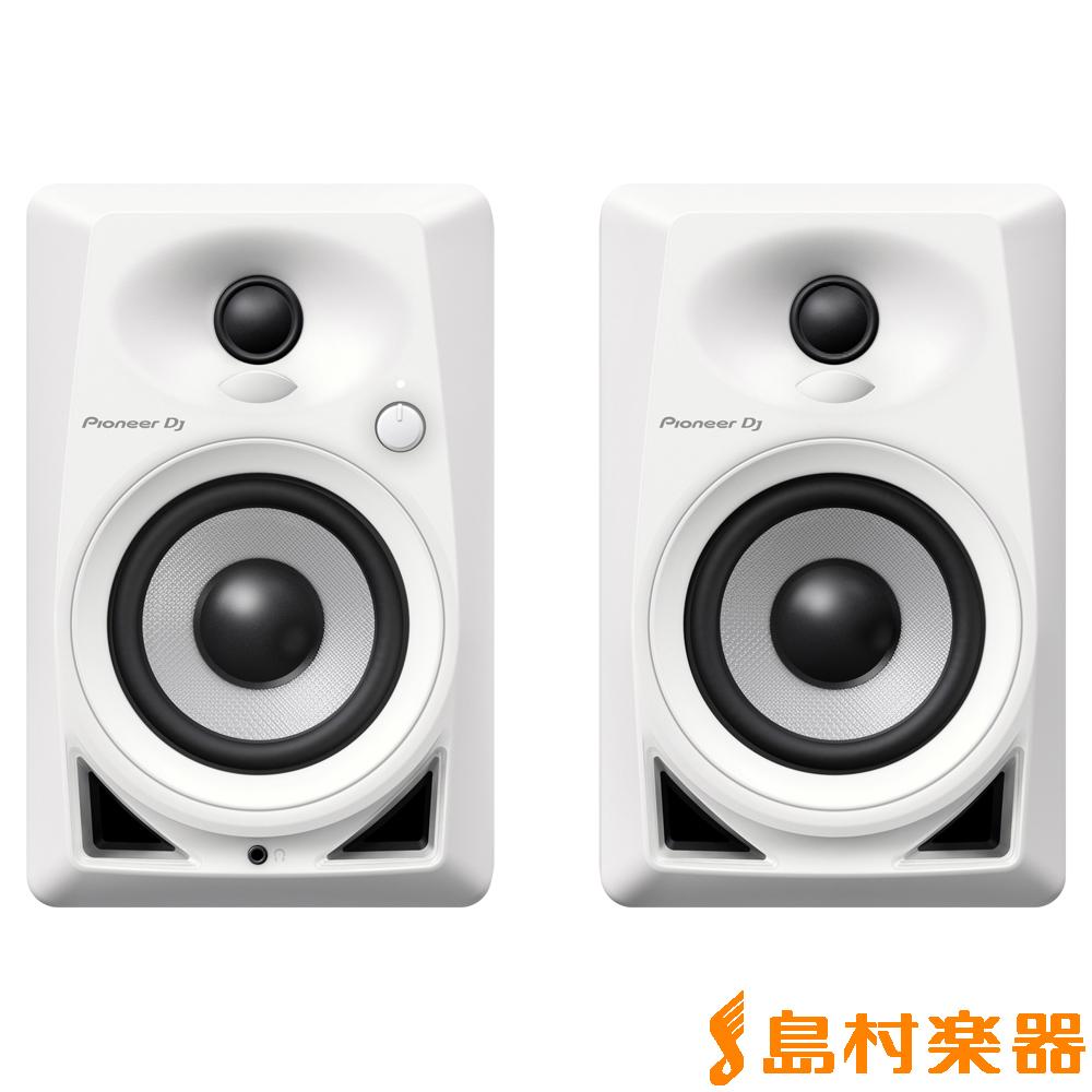 Pioneer DJ DM-40-W ホワイト 4インチ モニタースピーカー 【パイオニア DM40】