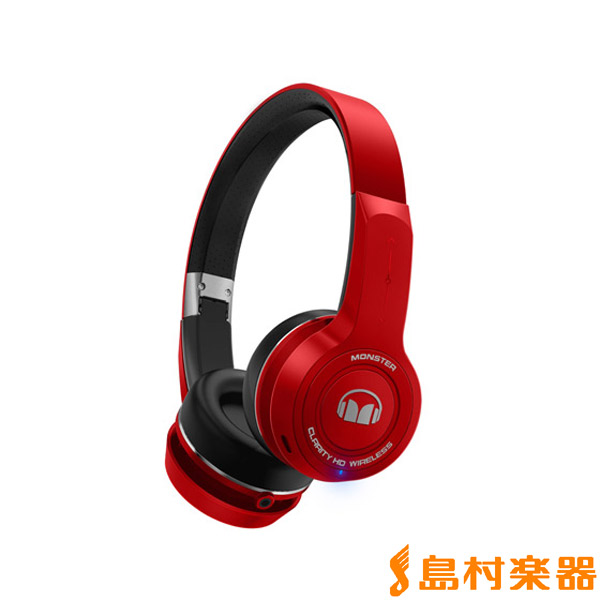 MONSTER CLARITY HD Wireless ON-Ear レッド ワイヤレスヘッドホン 【モンスター MH CLY ON BT】【国内正規品】