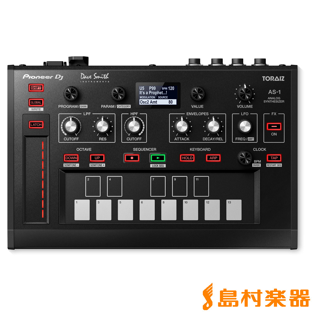 Pioneer DJ TORAIZ AS-1 モノフォニックアナログシンセサイザー 【パイオニア】