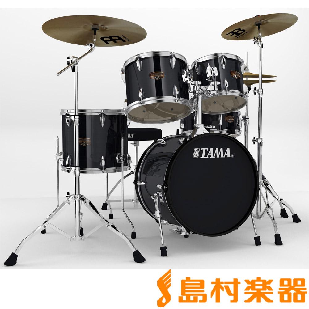 TAMA IP58H6HC HBK ドラムセット シンバル付き 【バスドラム18インチ小口径仕様】 【タマ IMPERIALSTAR/インペリアルスター】