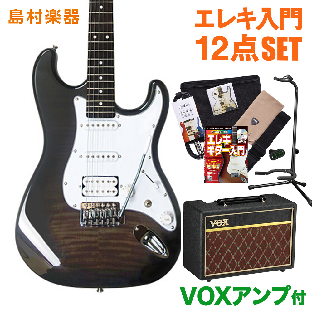 BUSKER'S BST-3H/FM TBK VOXアンプセット エレキギター 初心者 セット 【バスカーズ】