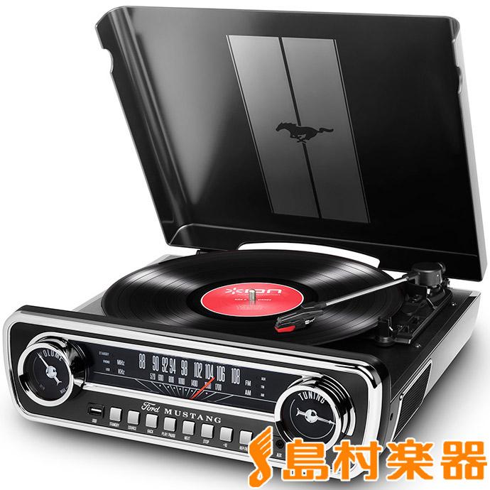 【アイオンオーディオ】 ION AUDIO USBレコードプレーヤー Mustang BLACK(ブラック) LP