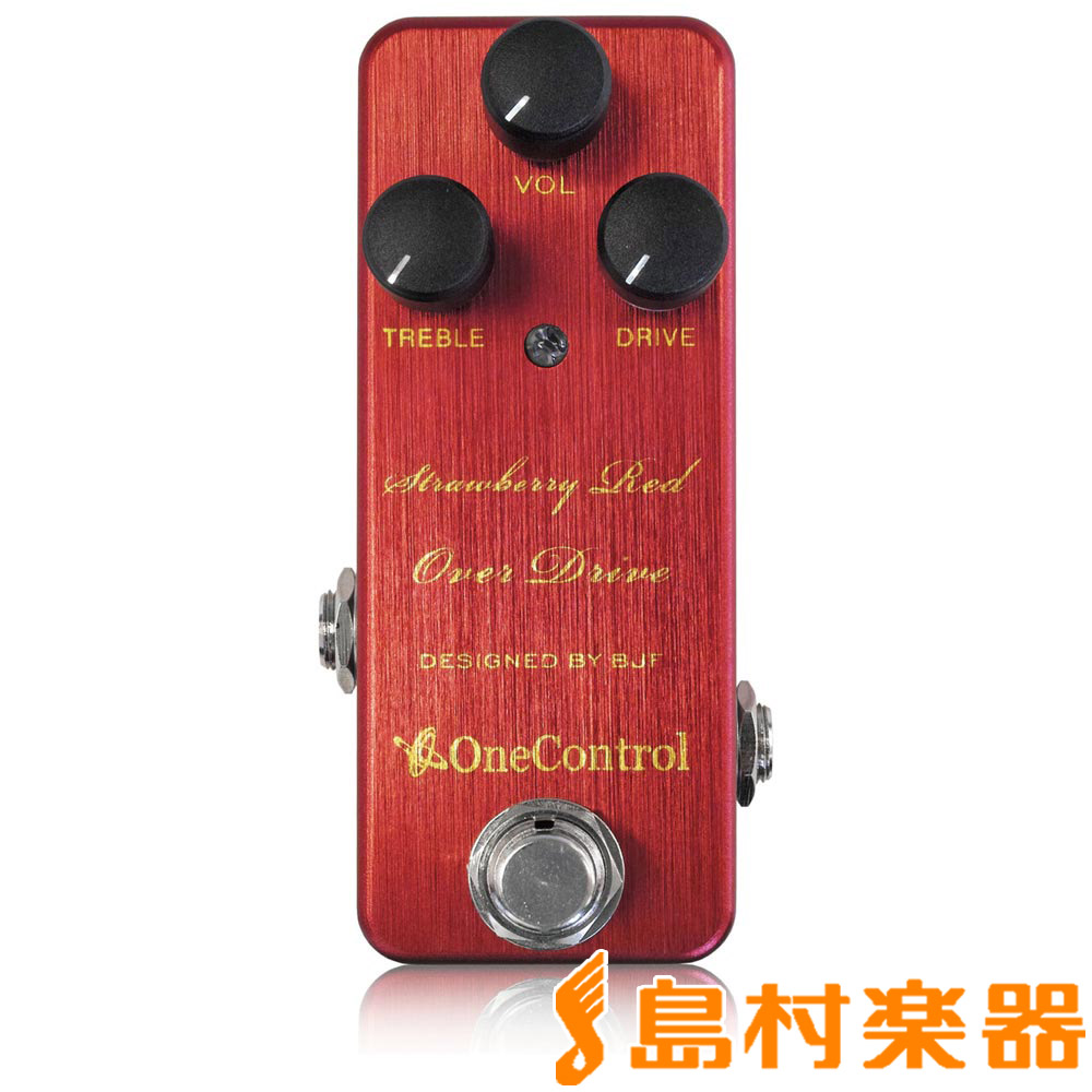 One Control Strawberry Red Control One Over Drive OC-SROD】 コンパクトエフェクター/オーバードライブ【ワンコントロール OC-SROD】, フタバグン:b7f4b08c --- bistrobla.se