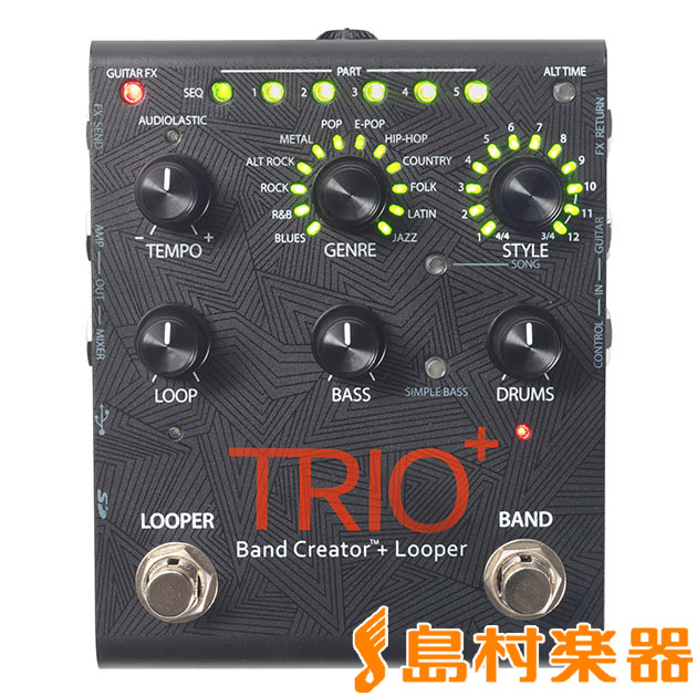 DigiTech TRIO+ ギターペダル型ベース/ドラムマシン 【デジテック】