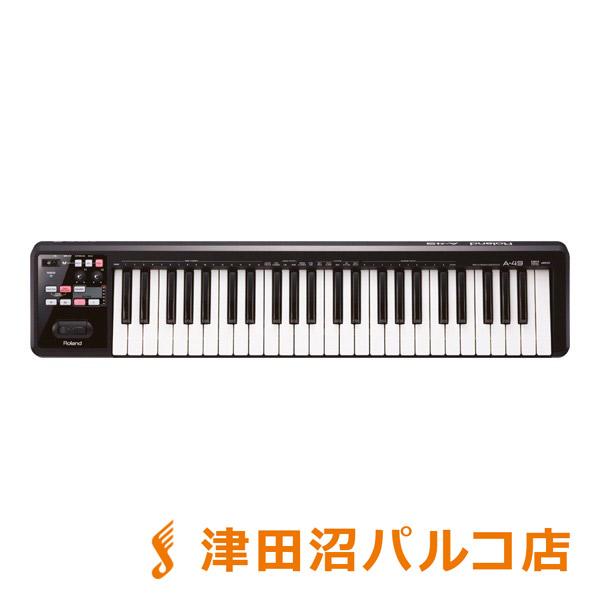 Roland A-49 BK MIDIキーボード・コントローラー 49鍵盤 【ローランド A49】【津田沼パルコ店】