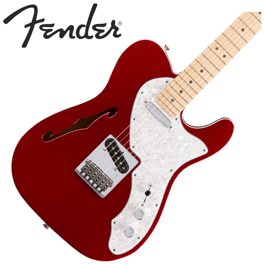 Fender Deluxe Telecaster Thinline Candy Apple Red テレキャスター エレキギター 【フェンダー】