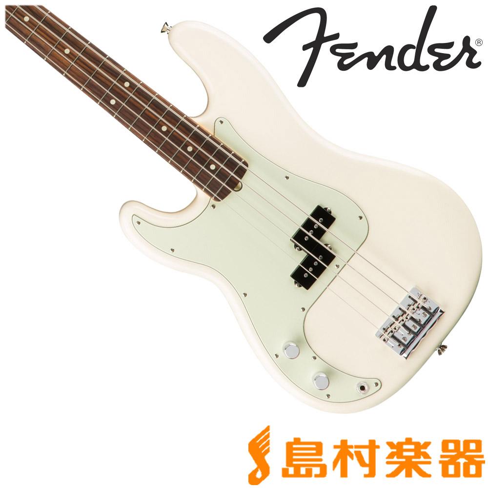 Fender American Professional Precision Bass Left-Hand Rosewood Olympic White ベース 左利き レフトハンド 【フェンダー】