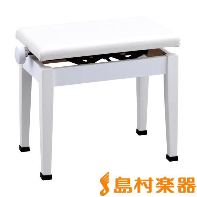 甲南 ピアノ用 高低自在椅子 K48 ホワイト 【コウナン ピアノイス】