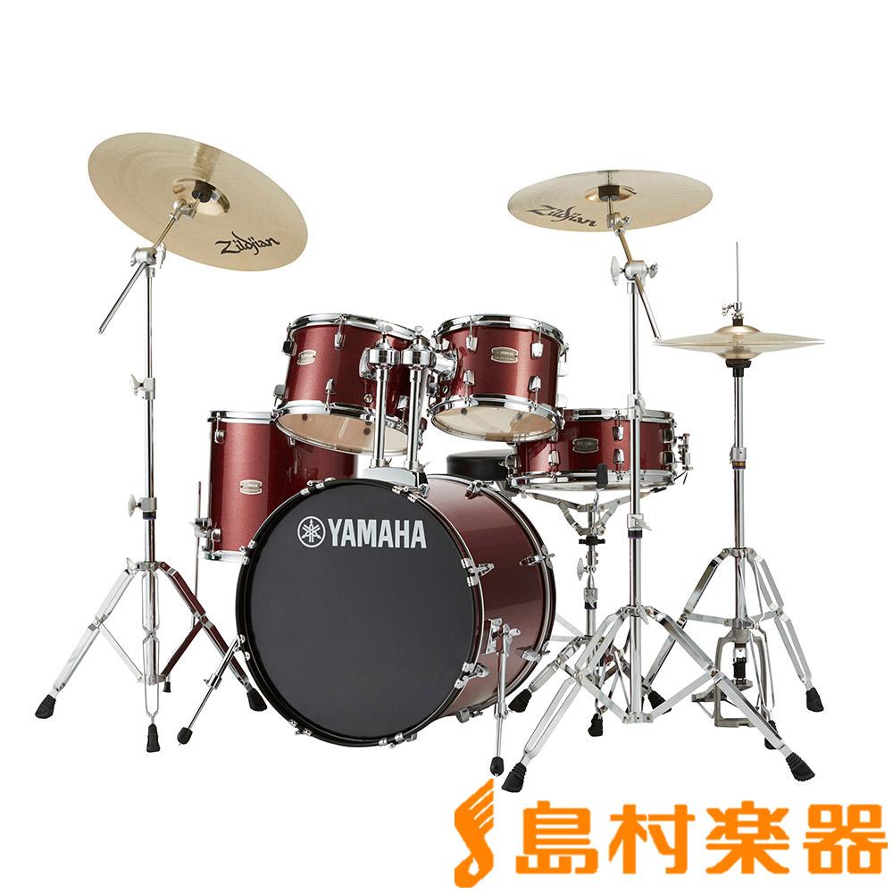 YAMAHA ドラムセット RYDEEN RDP0F5BGG ドラムセット バーガンディグリッター【ヤマハ【バスドラム20インチ仕様】【ヤマハ ライディーン RYDEEN】, 大分県:d1945fc3 --- rallyecuador.com