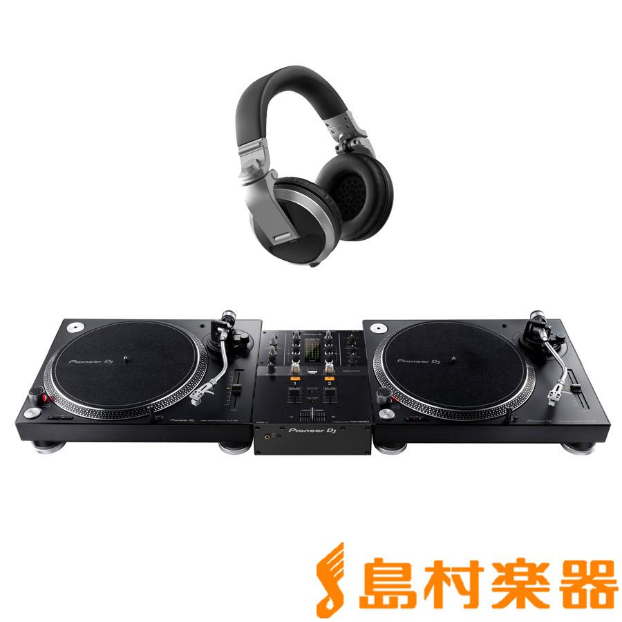 Pioneer PLX-500-K + DJM-250MK2(ミキサー) + HDJ-X5-S(ヘッドホン) アナログDJセット 【パイオニア】