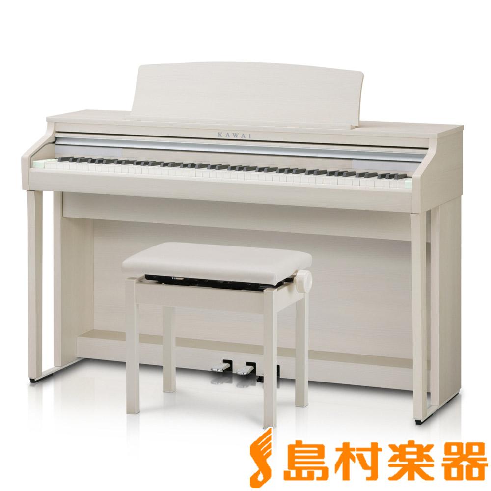 KAWAI CA48A プレミアムホワイトメープル調 電子ピアノ 88鍵盤 【カワイ】【配送設置無料・代引き払い不可】【別売り延長保証対応プラン:D】