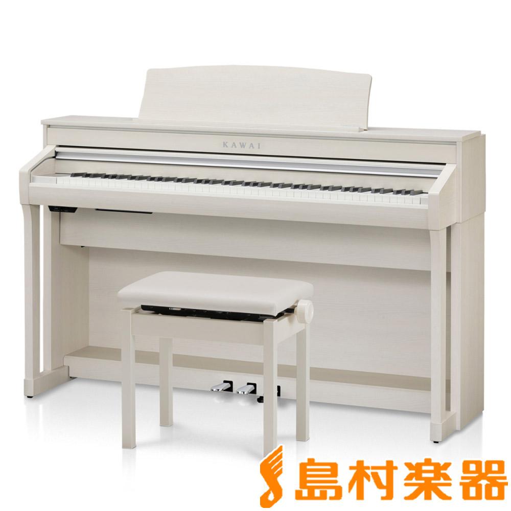 【ヘッドホン(SH-7)プレゼント】KAWAI CA78A プレミアムホワイトメープル調 電子ピアノ 88鍵盤 【カワイ】【配送設置無料・代引き払い不可】【別売り延長保証対応プラン:C】