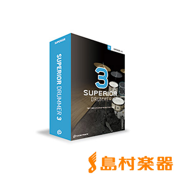 TOONTRACK SUPERIOR DRUMMER 3 ドラム音源 プラグインソフト 【トゥーントラック】【国内正規品】【ダウンロード版】