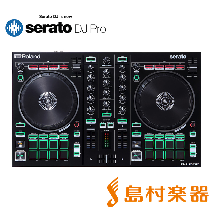 [ serato DJ PRO]付属 Roland AIRA DJ-202 DJコントローラー 【ローランド DJ202】