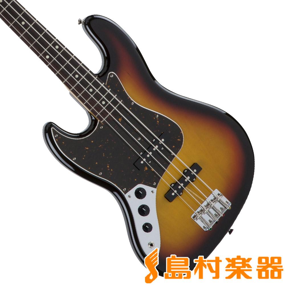 Fender Made in Japan Traditional 60s Jazz Bass Left-Hand 3-Color Sunburst ジャズベース 左利き レフトハンド 【フェンダー】