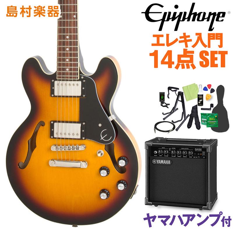 Epiphone ES-339 Pro Vintage Sunburst エレキギター 初心者14点セット【ヤマハアンプ付き】 セミアコ 【エピフォン】【オンラインストア限定】
