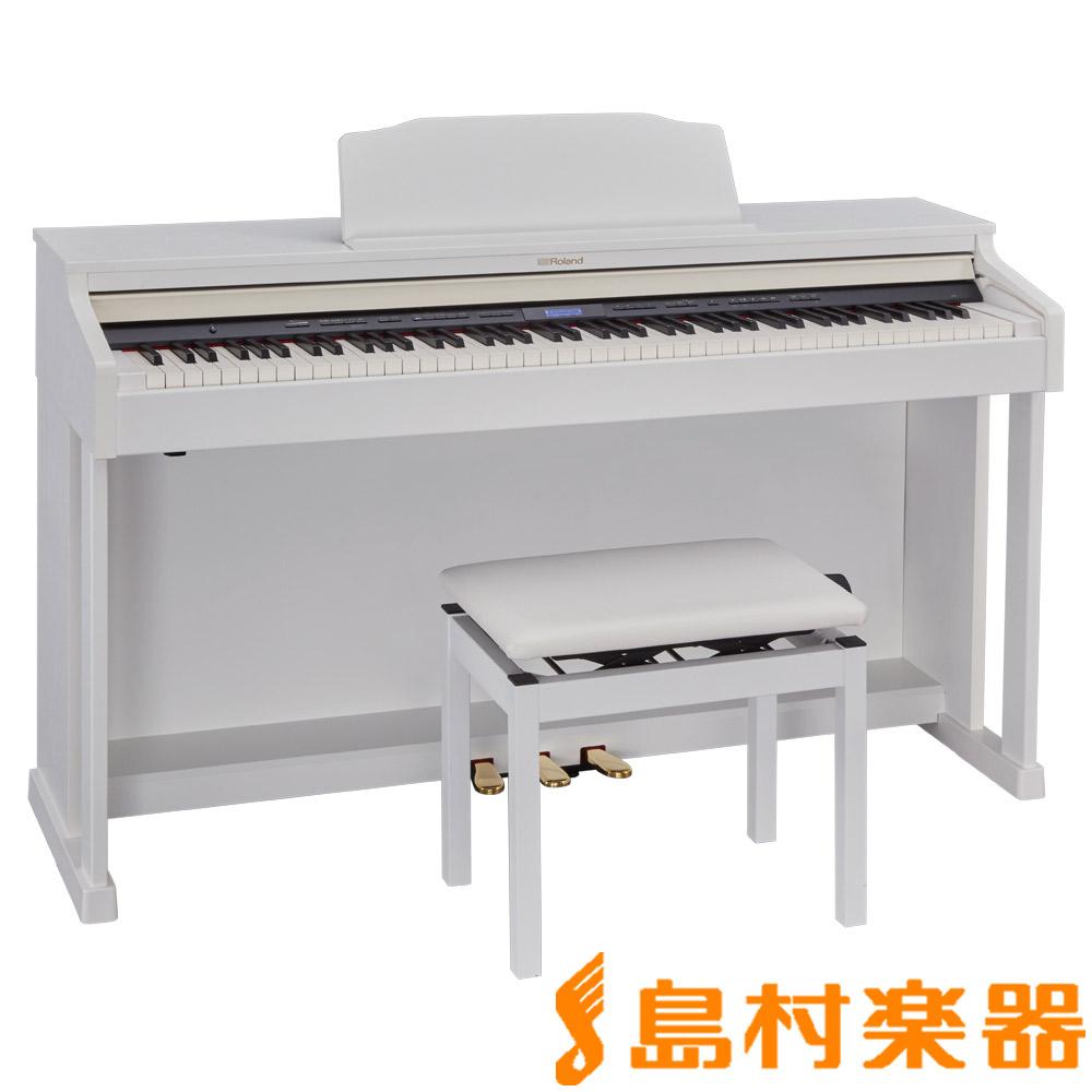 Roland HP601 WHS ホワイト 電子ピアノ 88鍵盤 【ローランド】【配送設置無料・代引き払い不可】【別売り延長保証対応プラン:D】