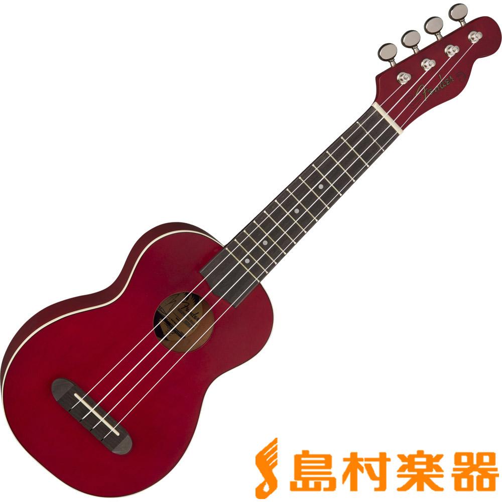 Fender Venice Soprano UK Cherry ソプラノウクレレ 【フェンダー】