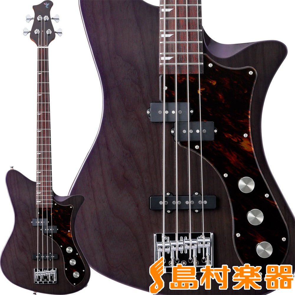 RYOGA SKATER-B432 Trans Pearl Violet エレキベース 【リョウガ】【数量限定】