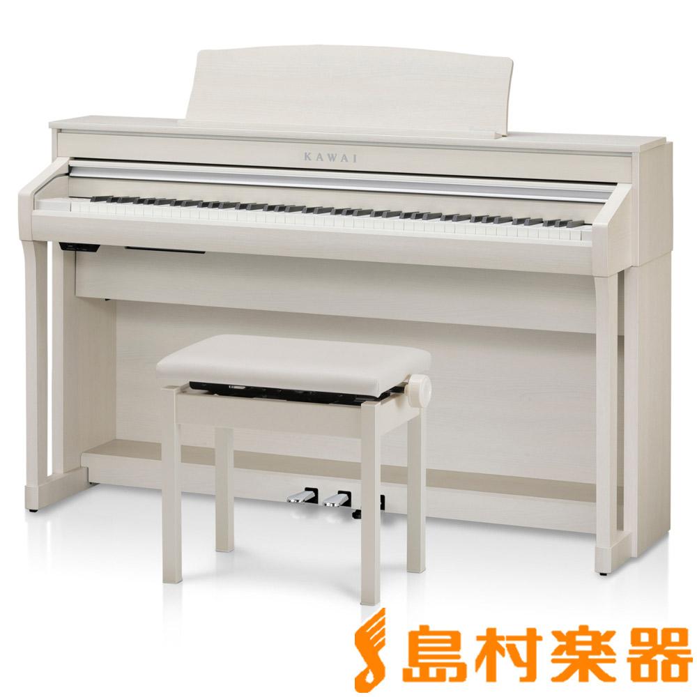 【ヘッドホン(SH-7)プレゼント】KAWAI CA58A プレミアムホワイトメープル調 電子ピアノ 88鍵盤 【カワイ】【配送設置無料・代引き払い不可】【別売り延長保証対応プラン:C】