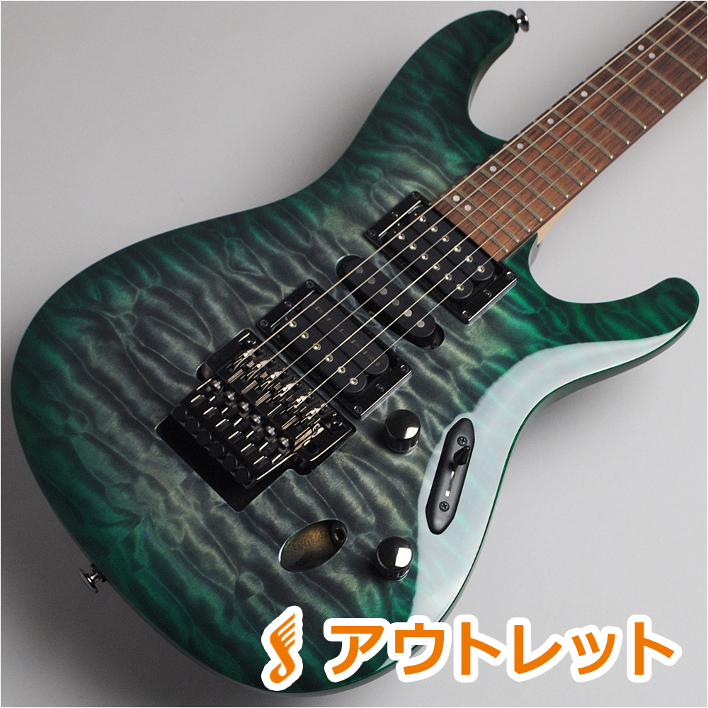 Ibanez S5570Q/Dark Green Doom Burst エレキギター 【アイバニーズ Prestage】【ビビット南船橋店】【アウトレット】【現物画像】