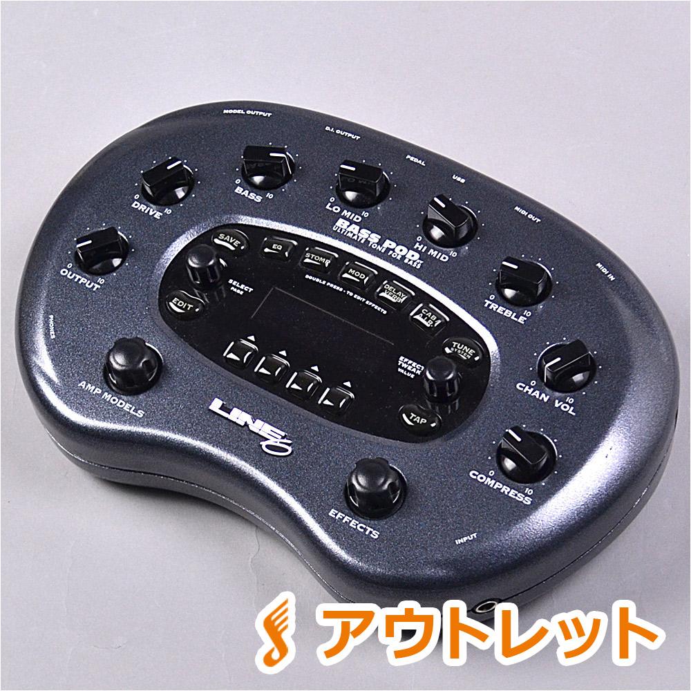 LINE6 BASS POD XT 生産完了モデル アンプシミュレーター 【 BASS PODXT】【りんくうプレミアムアウトレット店】【アウトレット】