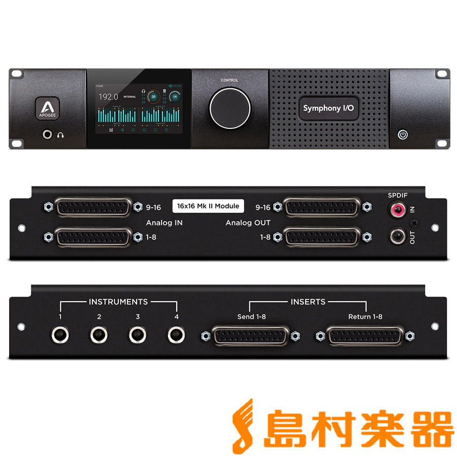Apogee Symphony I/O MKII SoundGrid Chassis with 16x16 + 8 Amp オーディオインターフェイス 【アポジー SYM21616S2A8MPSG】