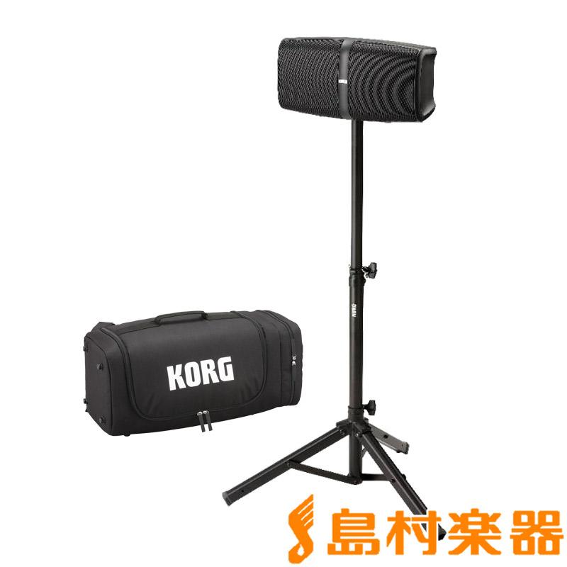 KORG KONNECT + [スピーカースタンド + キャリングケース]付き ポータブルPAシステム Bluetooth対応 ワイヤレススピーカー 【コルグ】