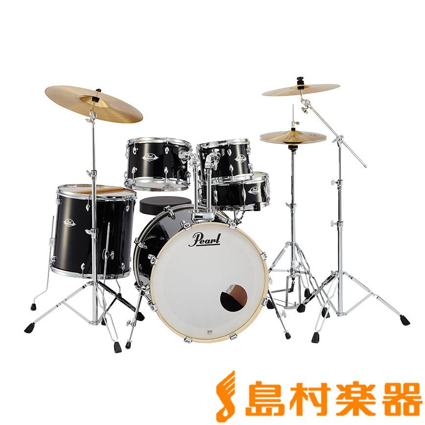 Pearl EXPORT EXX725S/C #31 Jet Black シンバル付きドラムセット スタンダードサイズ 【パール】【フルセット】