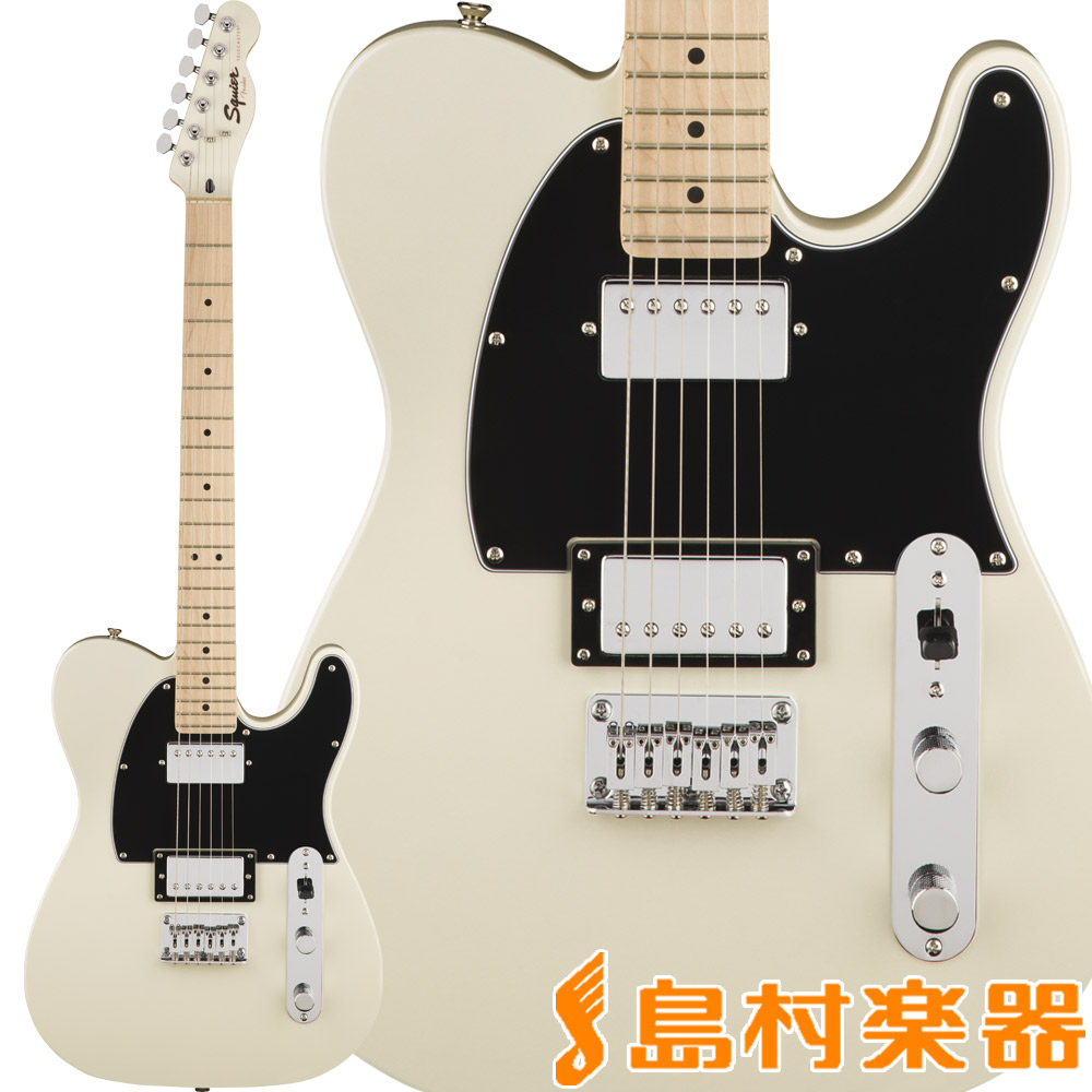 Squier by Fender Contemporary Telecaster HH, Maple Fingerboard, Pearl White テレキャスター エレキギター 【スクワイヤー / スクワイア】