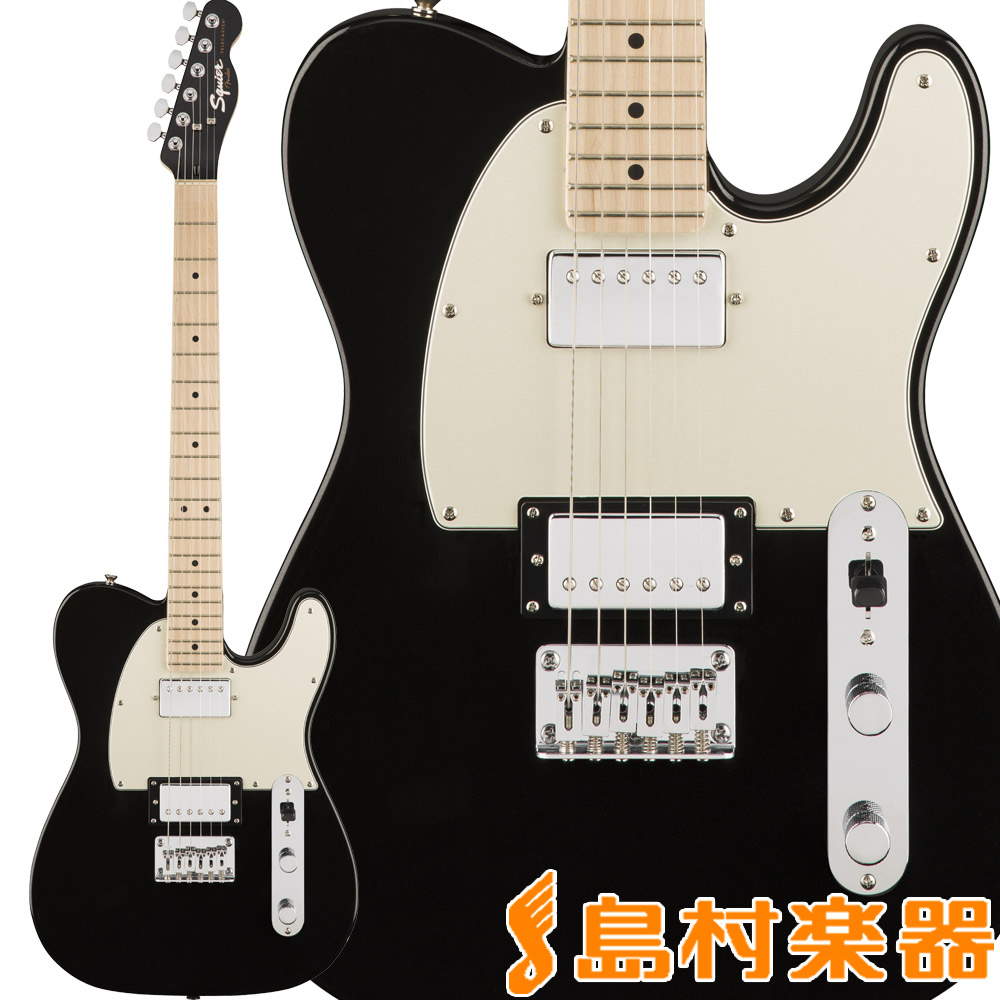 Squier by Fender Contemporary Telecaster HH, Maple Fingerboard, Black Metallic テレキャスター エレキギター 【スクワイヤー / スクワイア】