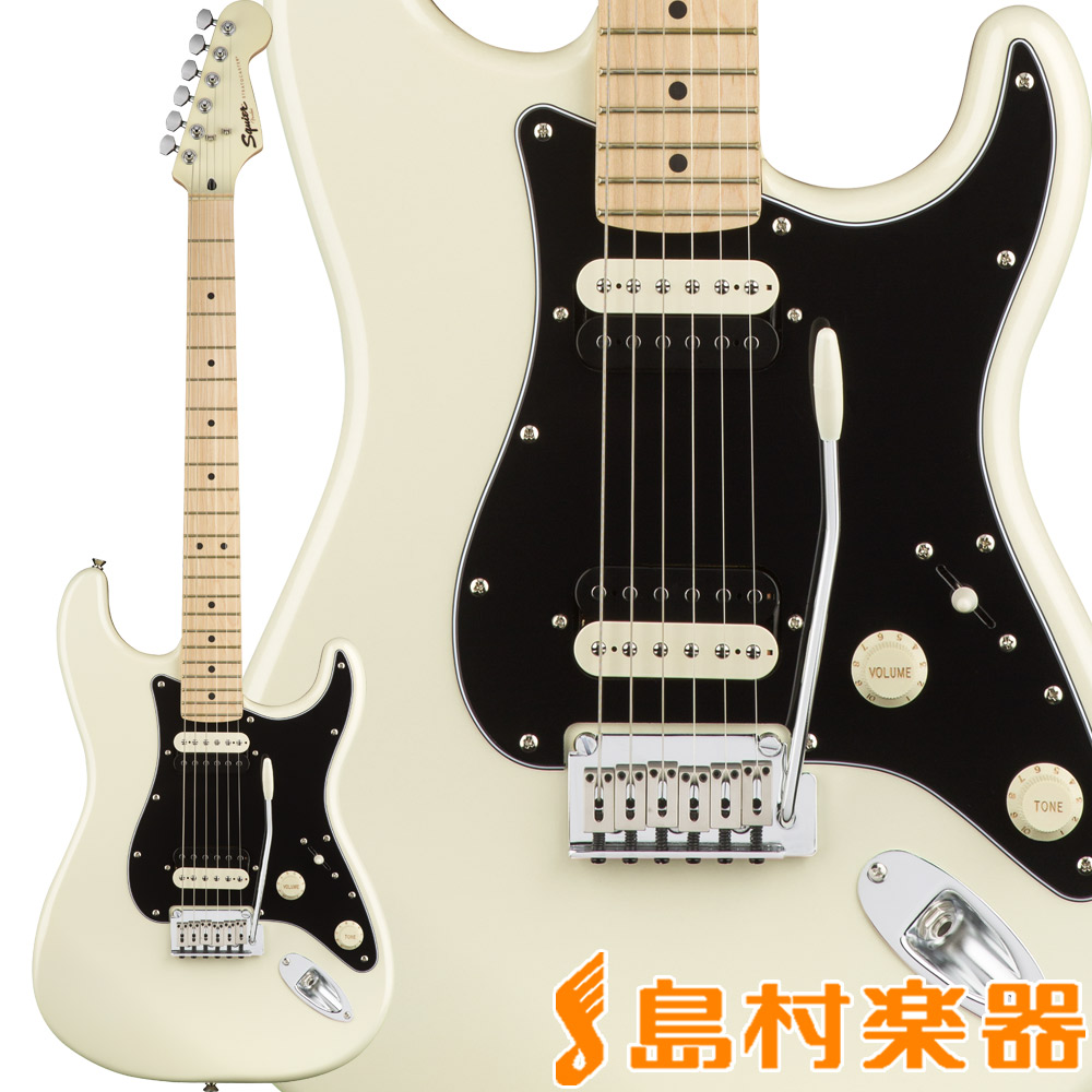 Squier by Fender White Contemporary Stratocaster HH, HH, Maple Fingerboard, スクワイア】 Pearl White ストラトキャスター エレキギター【スクワイヤー/ スクワイア】, ヒョウゴク:62e1c300 --- sunward.msk.ru